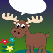 A moose with a speech bubble - Vektorgrafik