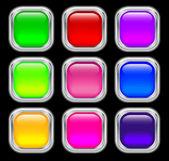 Conjunto de botones de cristal — Vector de stock
