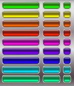 Sada tlačítek, fluorescenční — Stock vektor