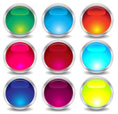 Set of glass buttons — Stock Vector