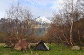 Campsite in the mountains of Georgia — Stock Photo