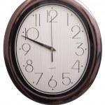 Wall clock oval — Stock Photo