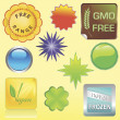 Royalty-Free Stock Imagem Vetorial: Food Stickers