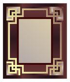 Art Deco Style Frame — Stock Vector