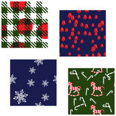 Christmas Patterns Set — Stock Vector