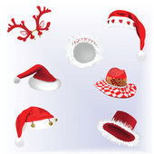 Christmas Hats — Stock Vector