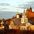 Church of Elijah the Prophet and Kremlin. Nizhny Novgorod, Russi — Lizenzfreies Foto