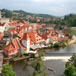 Summer view of Czech Krumlov — Stock Photo