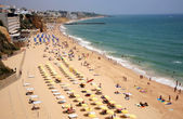 Beach at Albufeira in Algarve, Portugal — Stock Photo