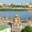 Colorful view of summer Nizhny Novgorod Russia - Stock Photo