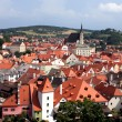 Roofs of Czech Krumlov — Stock Photo