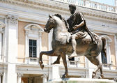 The Equestrian Statue of Marcus Aurelius in Rome, Italy — Stock Photo