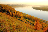 Autumn park in Nizhny Novgorod, Russia — Stock Photo