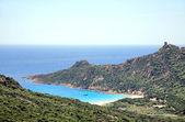 Blue lagoon in Corsica, France — Stock Photo