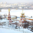 Stroganov Church on city background. Nizhny Novgorod, Russia. — Stock Photo #7960107