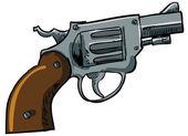 Illustration of a snub nose revolver — Stock Vector
