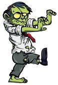 Cartoon zombie businessman stalking — Stock Vector