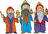 Cartoon of the three wise men — Stock Vector