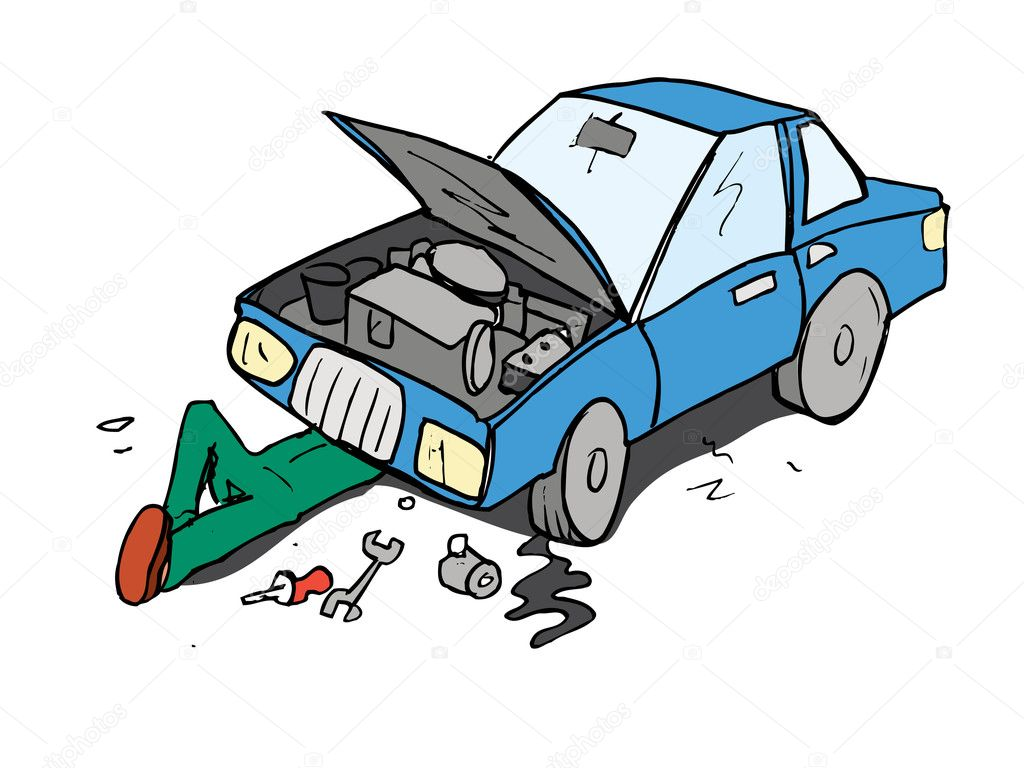 ... Cartoon likewise Car Repair Cartoons. on auto repair engine cartoon