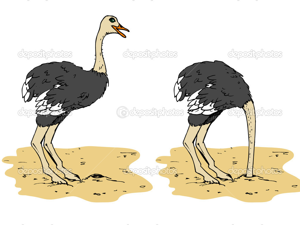 Gardez le moral....... Depositphotos_7781394-Cartoon-ostrich-with-head-below-sand