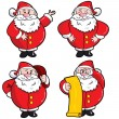 Set of Cartoon Santa — Stock Vector #7831386