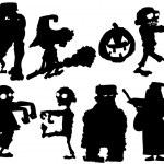 Silhouette set of Halloween characters — Stock Vector #7883441