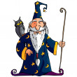 Royalty-Free Stock Vector Image: Cartoon Wizard witha staff