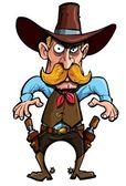 Cartoon cowboy with a gun belt — Stock Vector