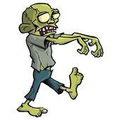 Cartoon zombie isolated on white — Stock Vector
