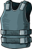 Illustration of bullet proof vest — Stockvektor