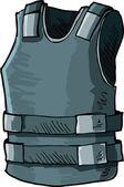 Illustrazione di giubbotto prova di proiettile — Vettoriale Stock