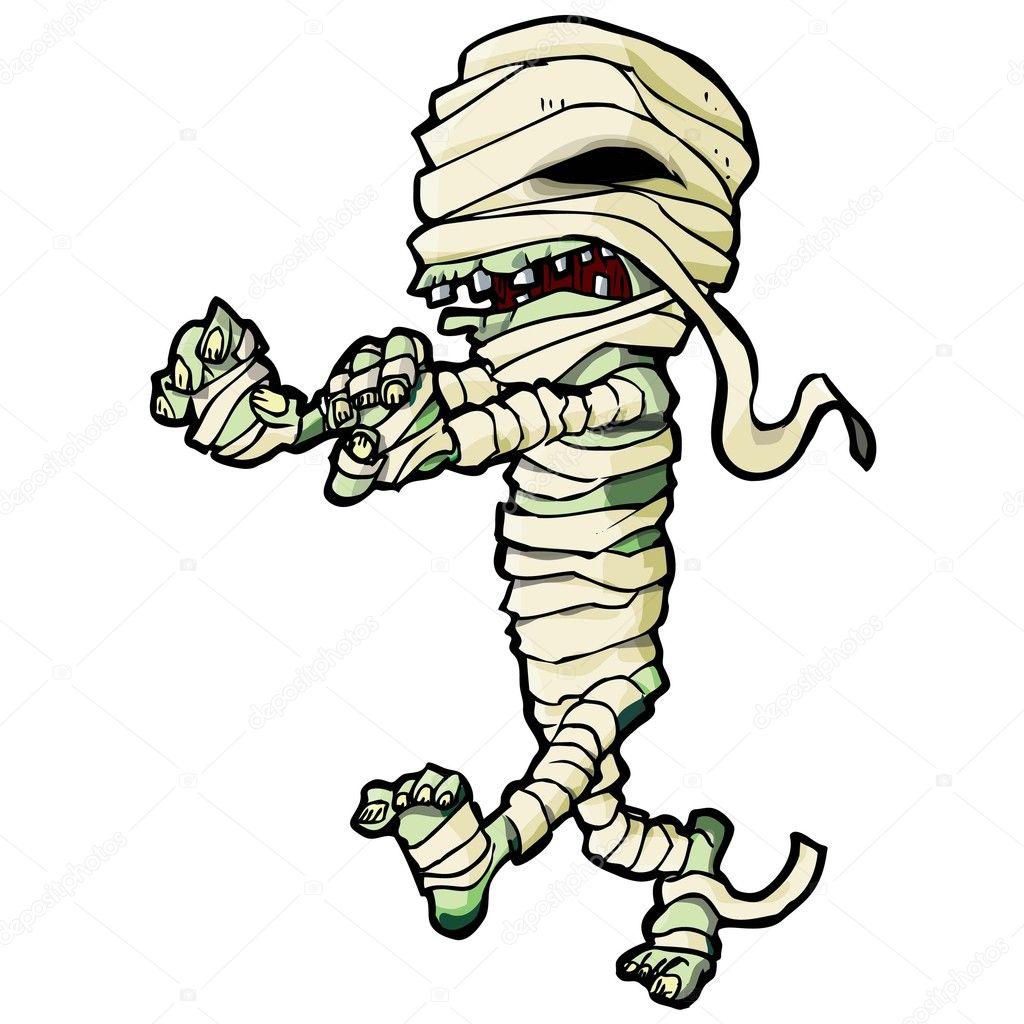 Cartoon Egyptian mummy — Stock Vector © antonbrand #7895095