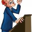 Stock Vector: Man giving a passionate speech