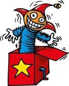 Cartoon of Jack in the box — Stock Vector