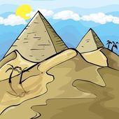 Illustration of Egyptian Pyramids — Stock Vector