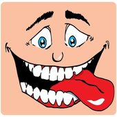 Cartoon Face of man with a big mouth — Stock Vector