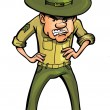 Angry cartoon drill sergeant — Stock Vector