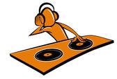 Stylised cartoon DJ design — Stock Vector