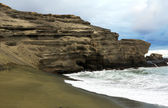 Green san beach Papakolea — Stock Photo