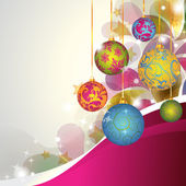 Colorful Christmas Ornaments — Stok fotoğraf