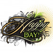 Vector de stock : Happy day