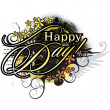 "Vector de stock : ""Happy day"""