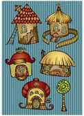 Casas de desenhos animados — Vetorial Stock