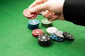 Makung rate in poker game — Stock Photo