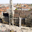 Munich, City Hall and Marienplatz Square — Stock Photo