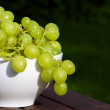 Grapes in a bowl — Stock Photo