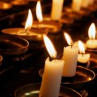 Prayer Candles Closeup — Stock Photo