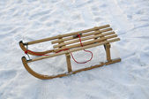 Sled in the snow — Stock Photo