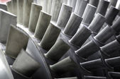 Blades of a Jet Engine — Stock Photo