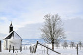 Chapel in the Winter — Stockfoto